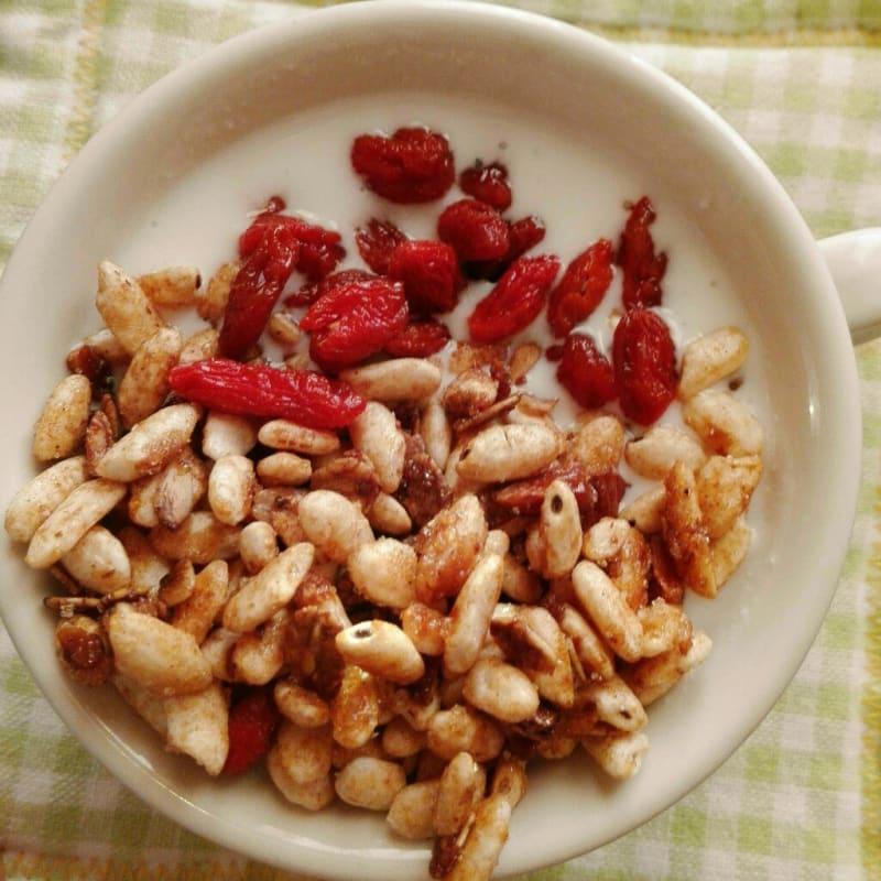 Gluten-free granola for breakfast