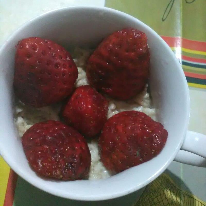 Chocoporridge con fragole