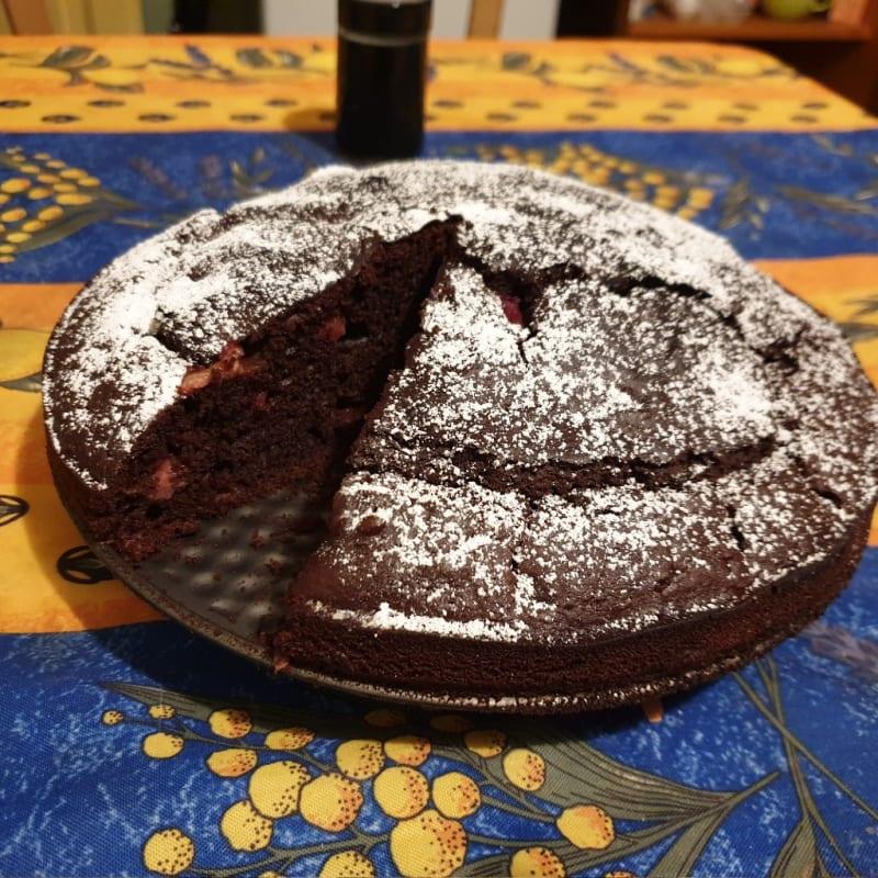 Torta veloce cioccolato e fragole