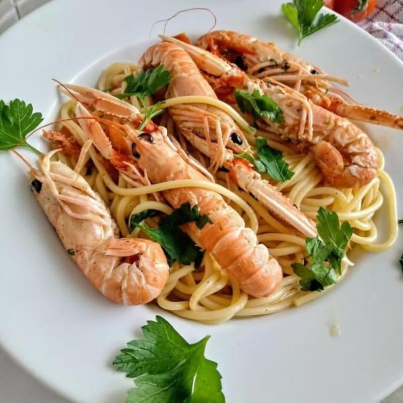 Espaguetis Con Scampi