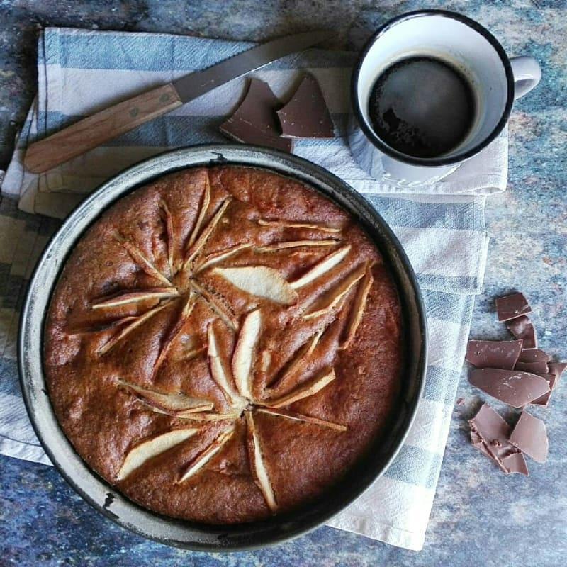 Torta di mele e cioccolata