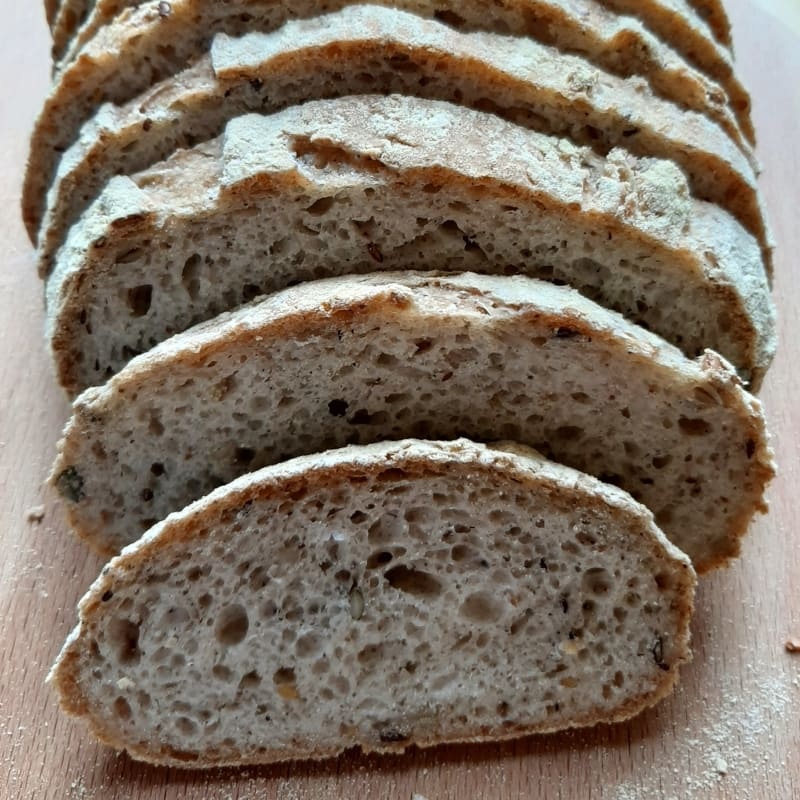 Whole wheat bread without gluten