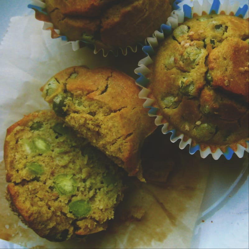 Muffin di ceci e piselli