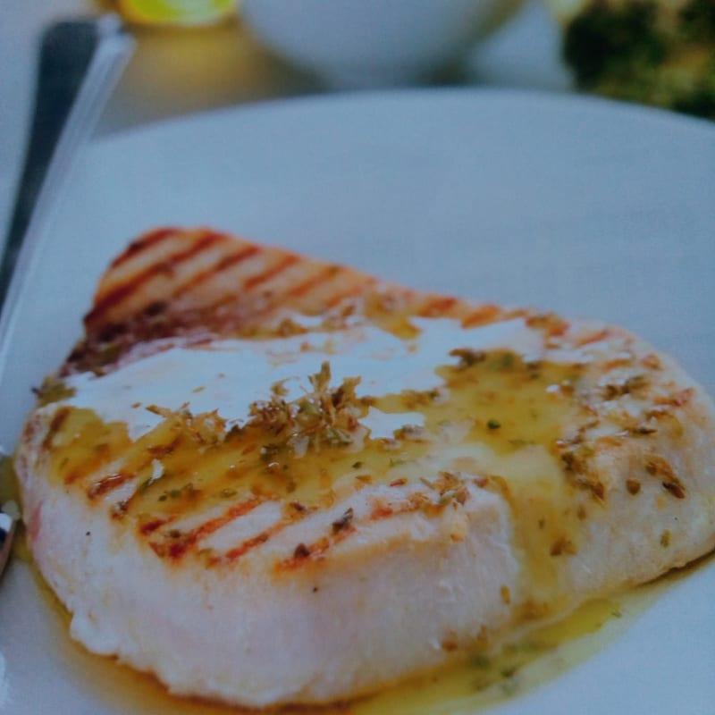 Swordfish in aromatic sauce