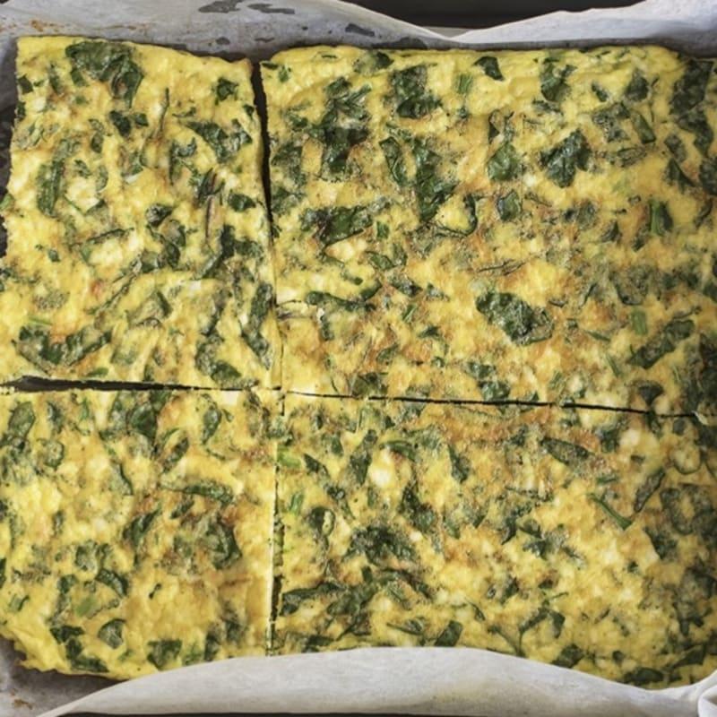 Vegetable and ricotta omelette