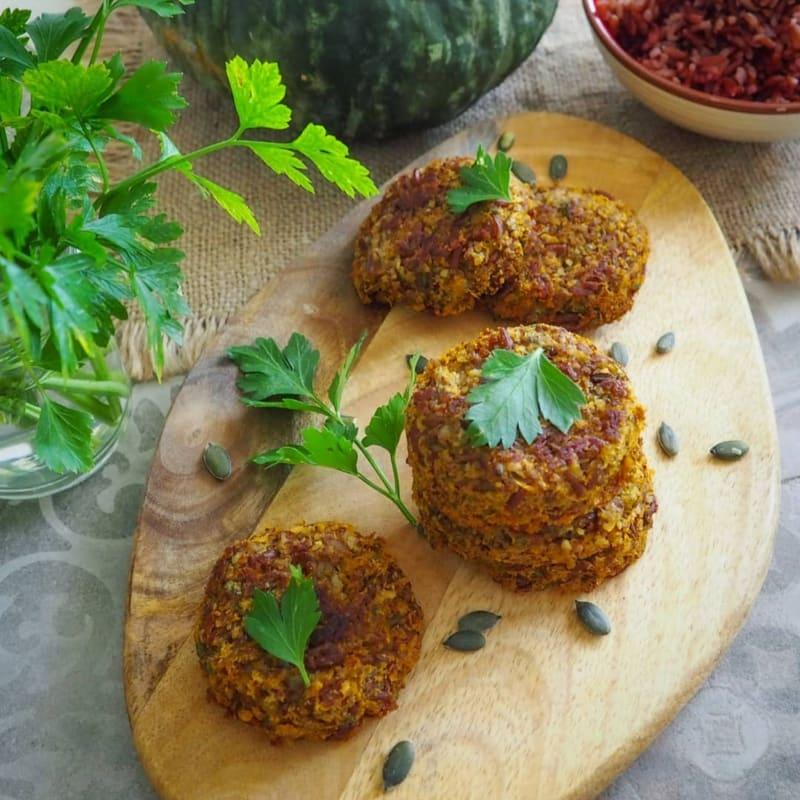 Crocchette di riso rosso e zucca