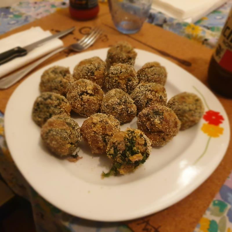 Polpette carne e spinaci al forno