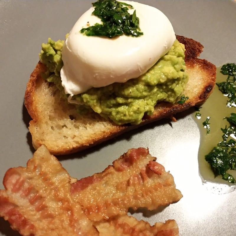 Bread, Egg, Avocado and Bacon