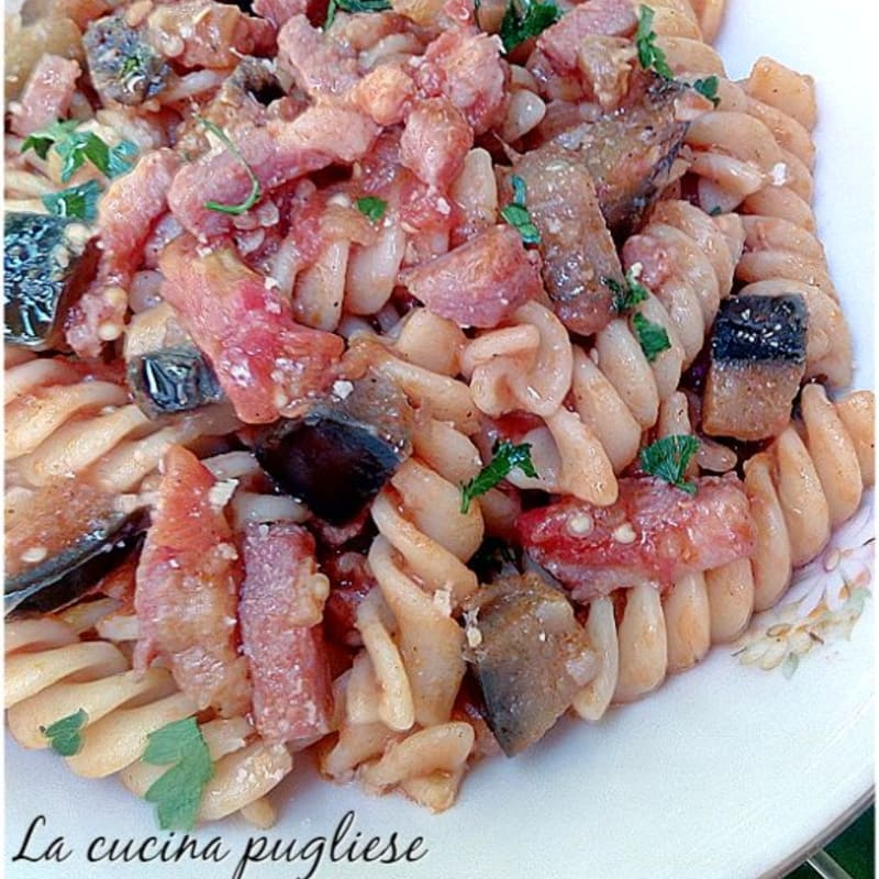 Eggplant And Bacon Pasta