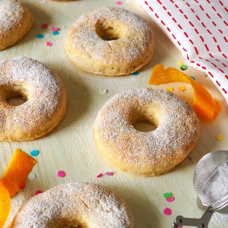 Potato donuts baked in the oven and without yeast