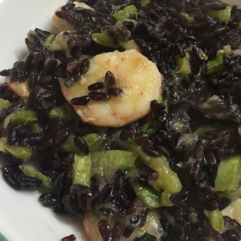 Venus shrimp and zucchini rice!