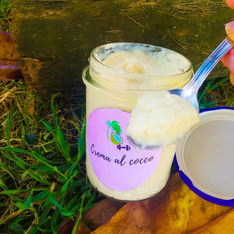 Coconut protein cream