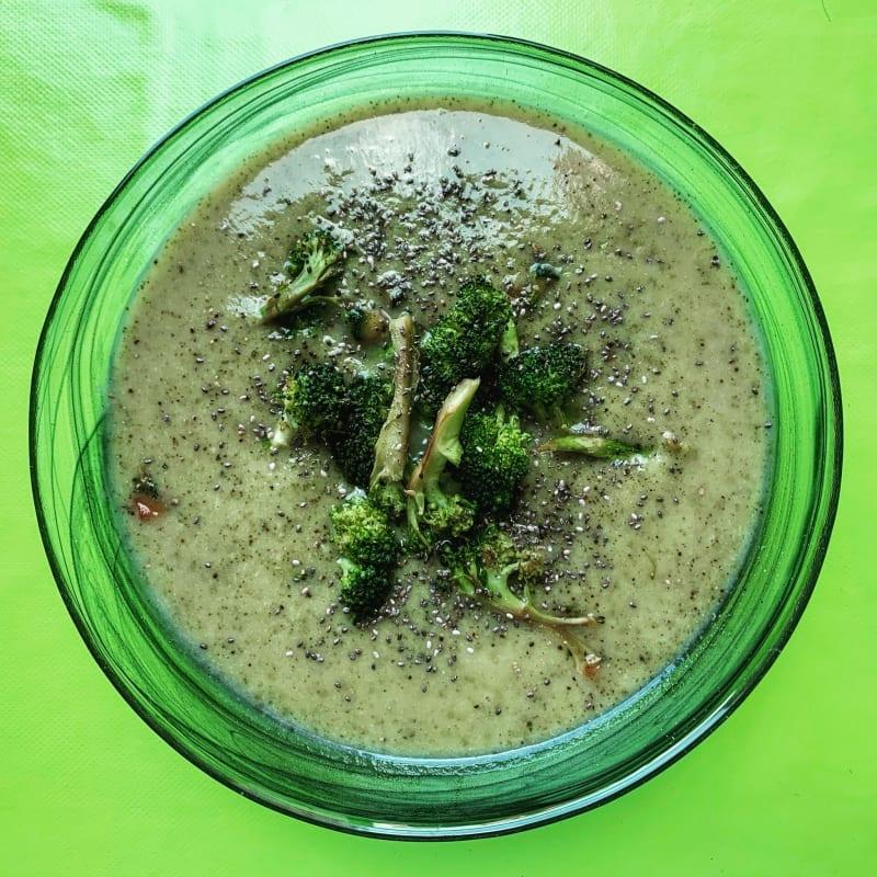 Crema de brócoli, calabacines y papas