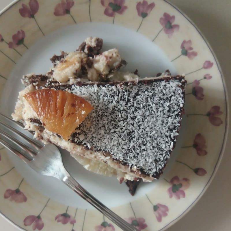 Cheesecake tropicale con cavolfiore