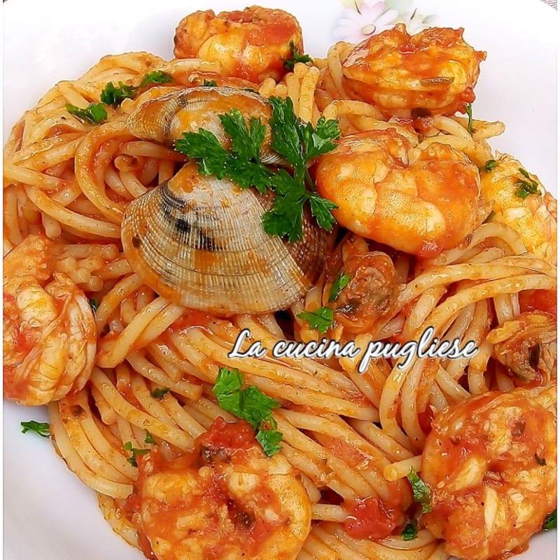 Spaghetti vongole e mazzancolle