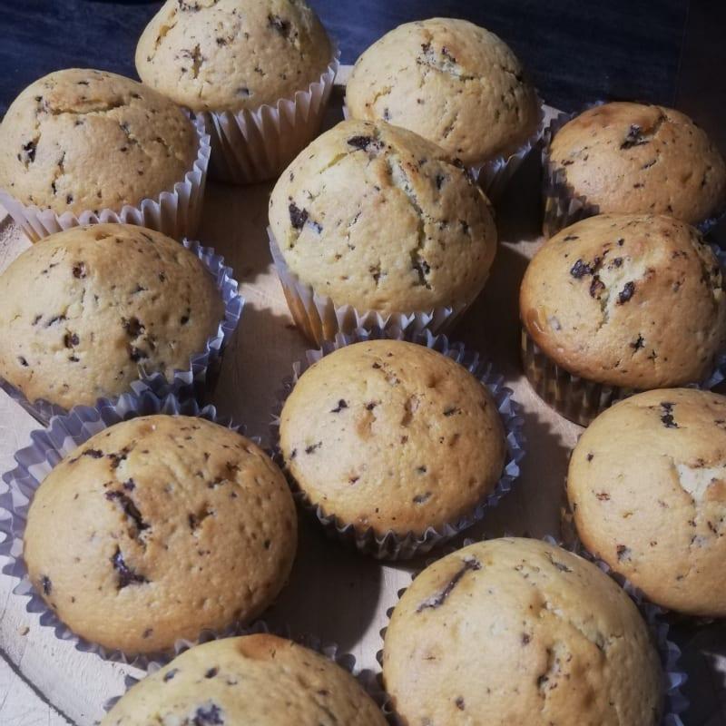 Yogurt muffin con gocce di cioccolato