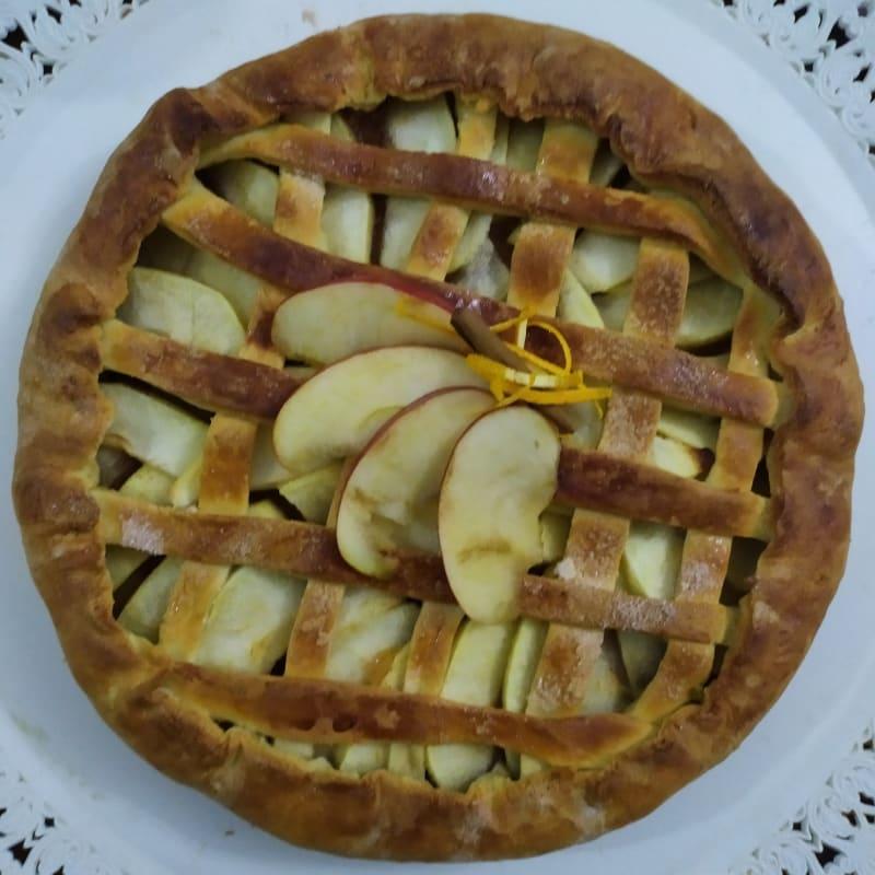 Torta di mele con composta di mele