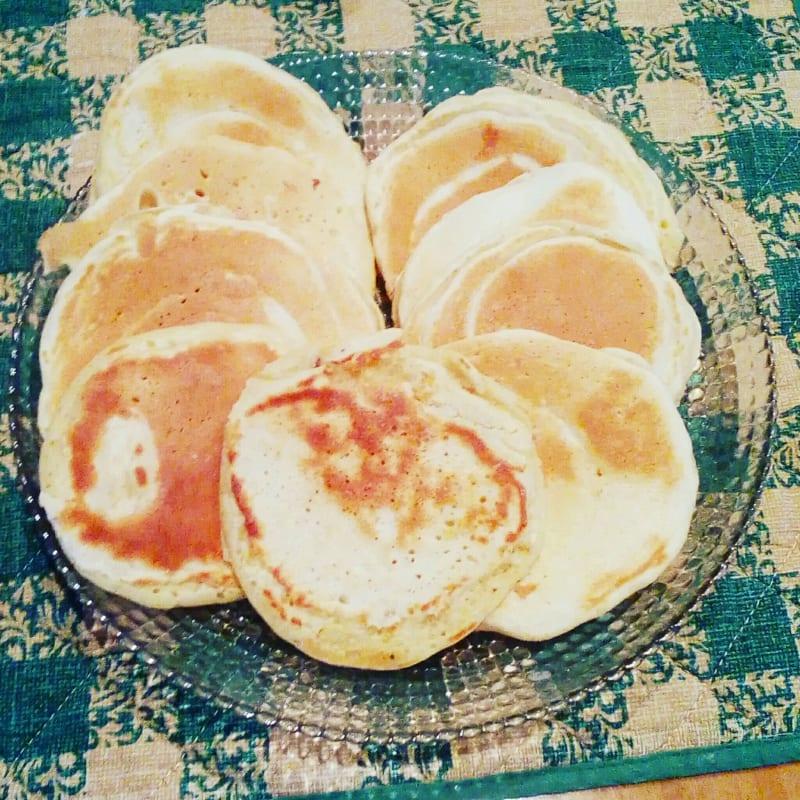 Pancake miele cannella e noci