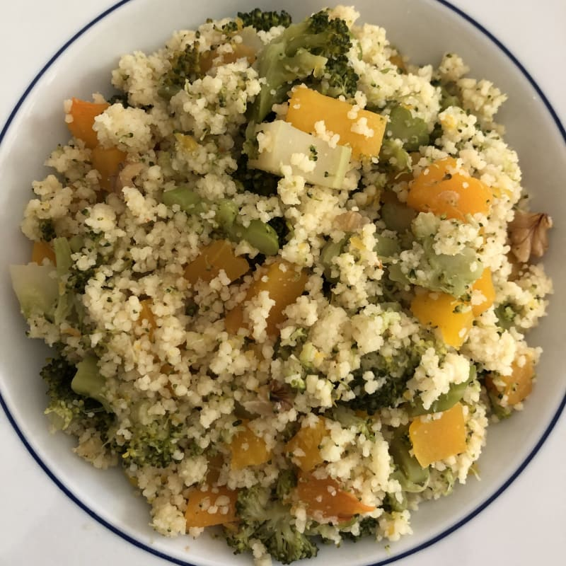 Cous cous broccolo e zucca