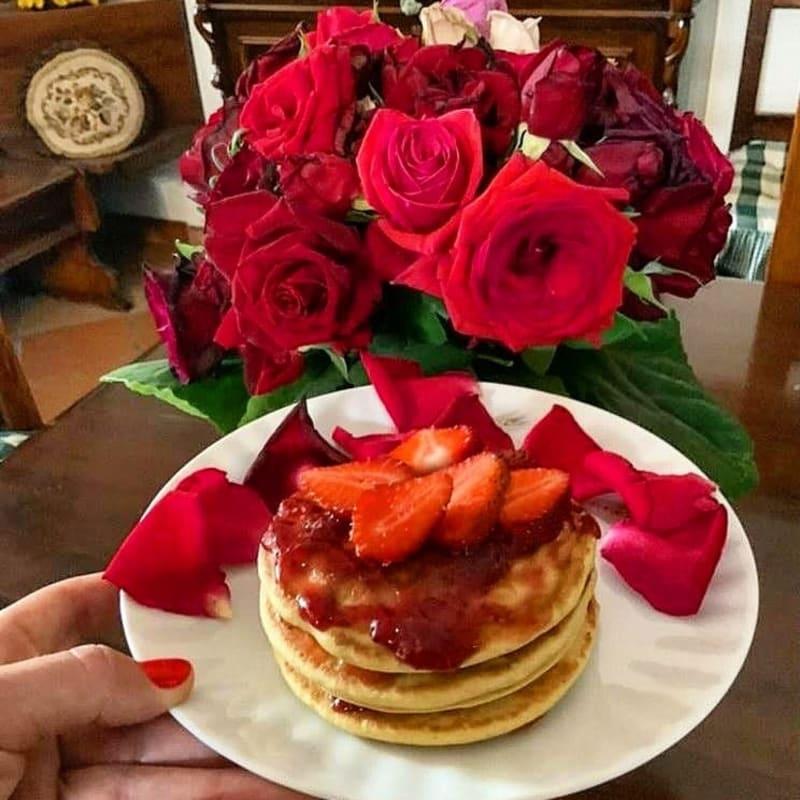 Red passion pancake
