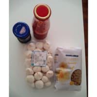 Foto preparazione Fusilli integrali funghi e olive