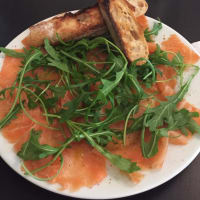 Ricetta correlata Smoked salmon with rocket