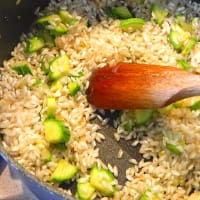 Foto preparazione Risotto con zucchine