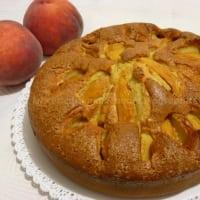 Foto preparazione light cake with peaches