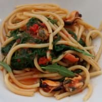 Ricetta correlata Bucatini with wild mussels and rocket