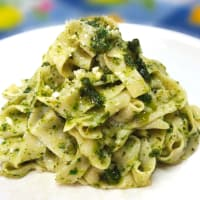 Ricetta correlata fresh noodles without eggs with arugula pesto and basil