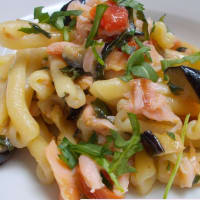 Ricetta correlata Homemade salmon with eggplant and arugula
