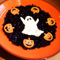 Foto preparazione Risotto spooky halloween