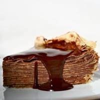 Foto preparazione crepes cake
