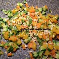 Foto preparazione Tagliatelle al ragù di verdure