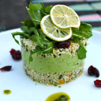 Ricetta correlata Cous cous and cauliflower germinated quinoa with herbs, citrus and cream