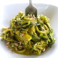 Ricetta correlata raw zucchini spaghetti with pesto cream