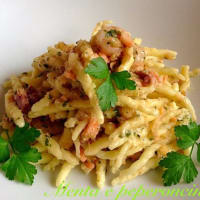 Ricetta correlata Trofie homemade salmon with shrimp and walnuts
