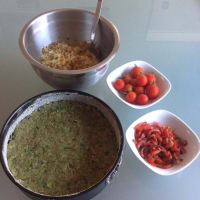 Foto preparazione Cake quinoa and vegetables