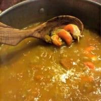 Foto preparazione Vellutata di zucca mantovana con capesante al lardo