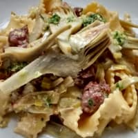 Ricetta correlata Tagliatelle with artichokes and sausage