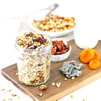 Ricetta correlata Granola with dried fruit with pitaya