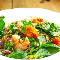 Ricetta correlata Salad with oranges, shrimp and pistachios