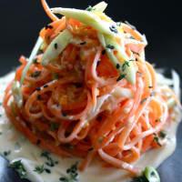 Ricetta correlata Noodles di carote con salsa al sesamo, arancia e timo
