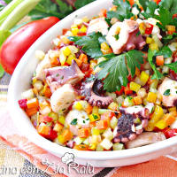 Ricetta correlata Octopus salad with vegetable brunoise