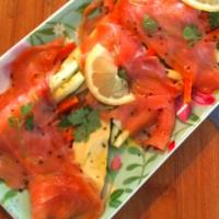 Ricetta correlata Salmone affumicato con verdure marinate