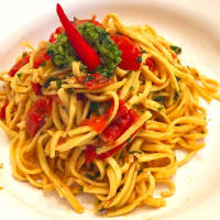 Ricetta correlata Spaghetti with pesto Trapanese