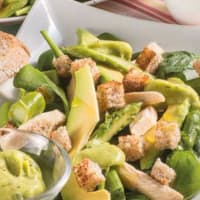 Ricetta correlata Avocado salad and spinach