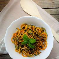 Ricetta correlata Zoodles con pesto ai pomodori secchi