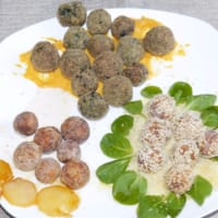 Ricetta correlata Chicken meatballs tricolor