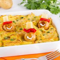 Ricetta correlata Gattò di patate con polpettine sorridenti